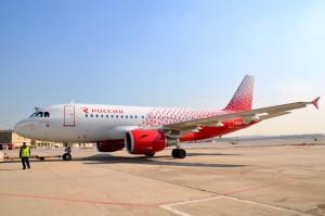"""Внуково торжественно встретил первый Airbus A319 в ливрее объединенной авиакомпании """"Россия"""""""