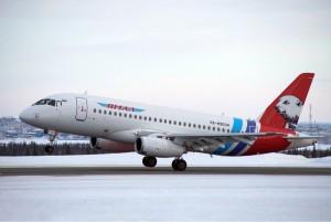 """Авиакомпания """"Ямал"""" приступила к коммерческой эксплуатации SSJ 100"""