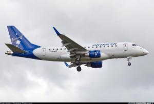 Группа S7 выполнила первый рейс из Новосибирска на лайнере Embraer